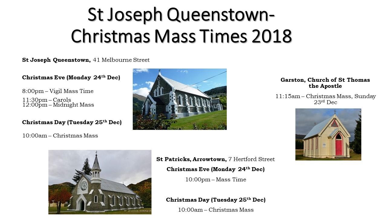 2018 Christmas Mass Times
